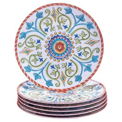 Certified International® Tuscany Melamine Salad Plates - 9 x9  Set of 6