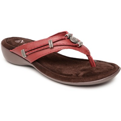 Minnetonka Women's Leather Silverthorne 360 Thong Sandals