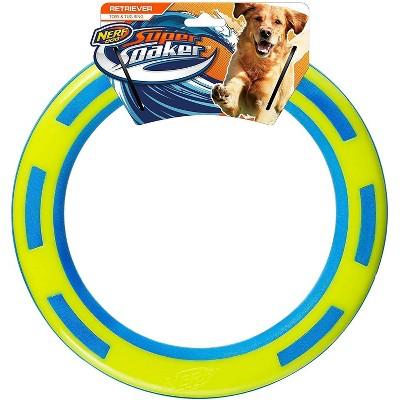 "NERF TPR Foam Ring Dog Toy - Blue/Green - 9"""