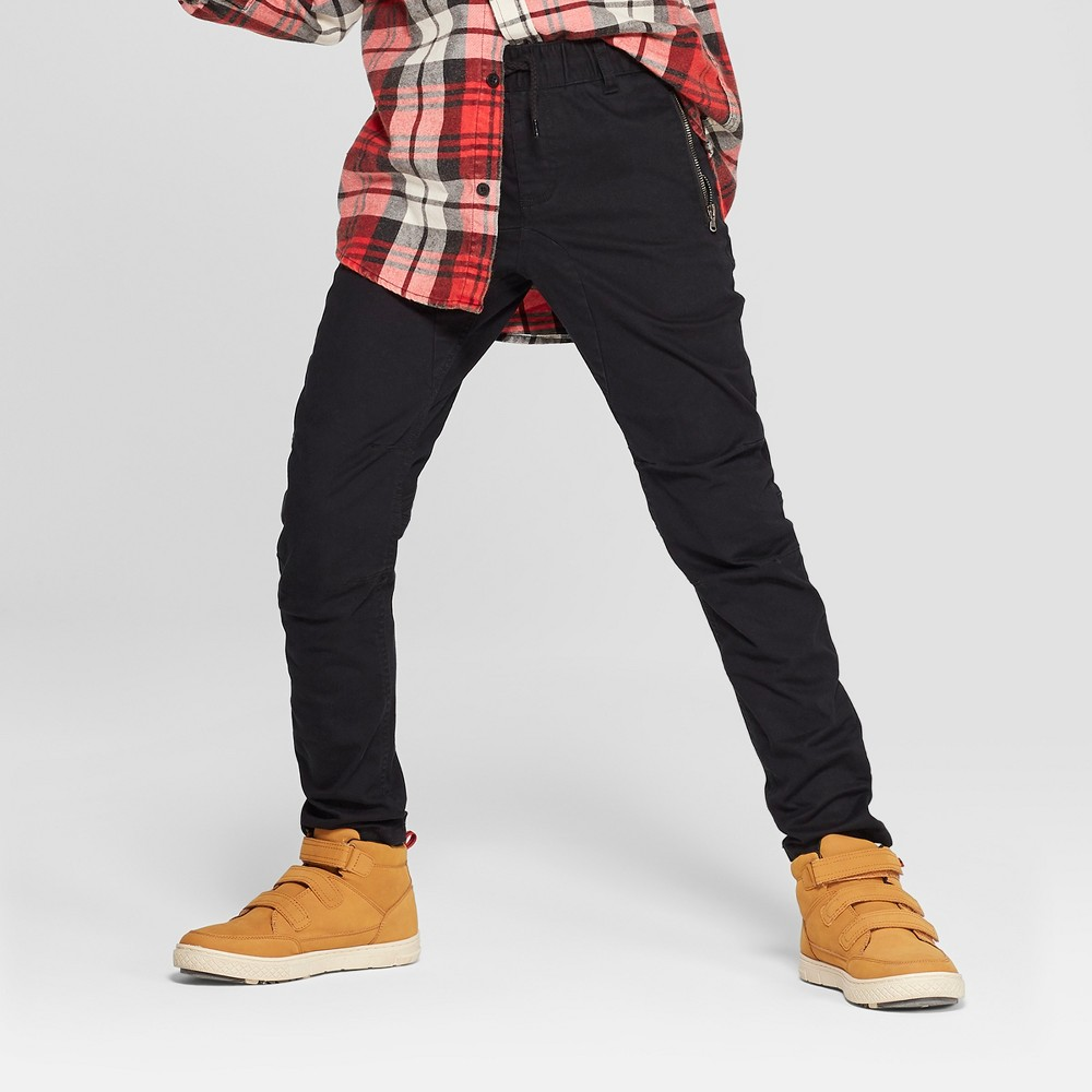 Boys' Moto Chino Pants - art class Black 12 Husky