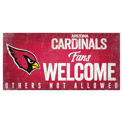 finest selection 37a67 0c2bc NFL Arizona Cardinals Fan Creations Fans Welcome Sign
