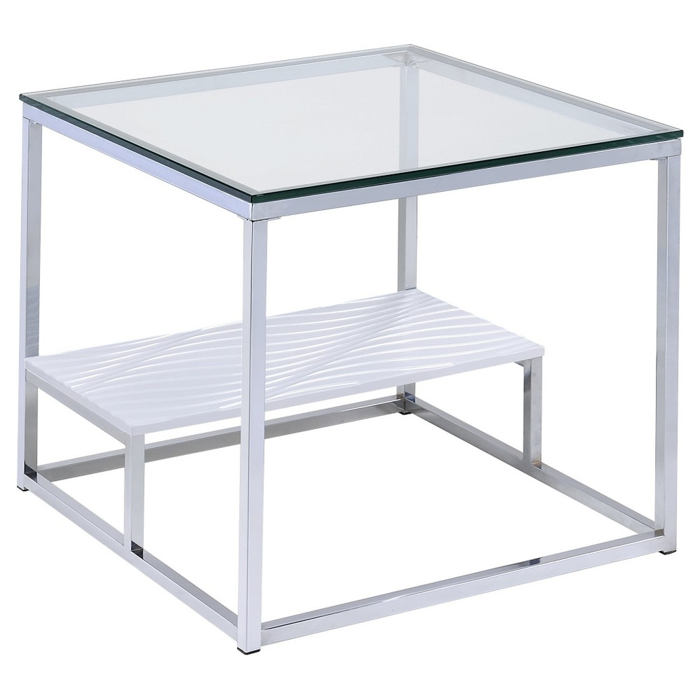 Check price End Table Chrome - Acme Furniture