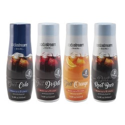 SodaStream Diet Fountain Style Sparkling Drink Mix Variety Pack