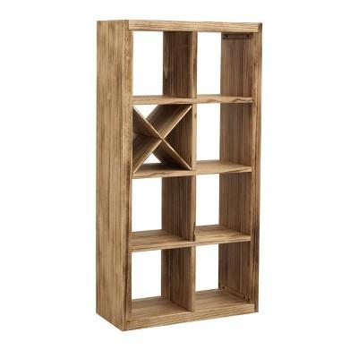 """60"""" Cisco Modern 7 Shelf Bookcase Brown - Treasure Trove Accents"""