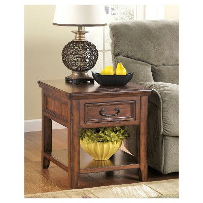 Woodboro End Table   Dark Brown   Signature Design By Ashley : Target