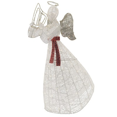Philips 120ct Christmas LED Glitter String Angel Pure White
