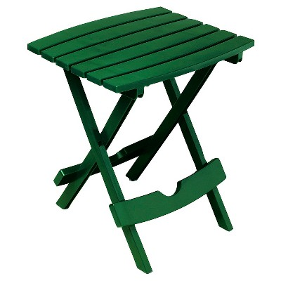 Adams Quick Fold Side Table - Hunter Green