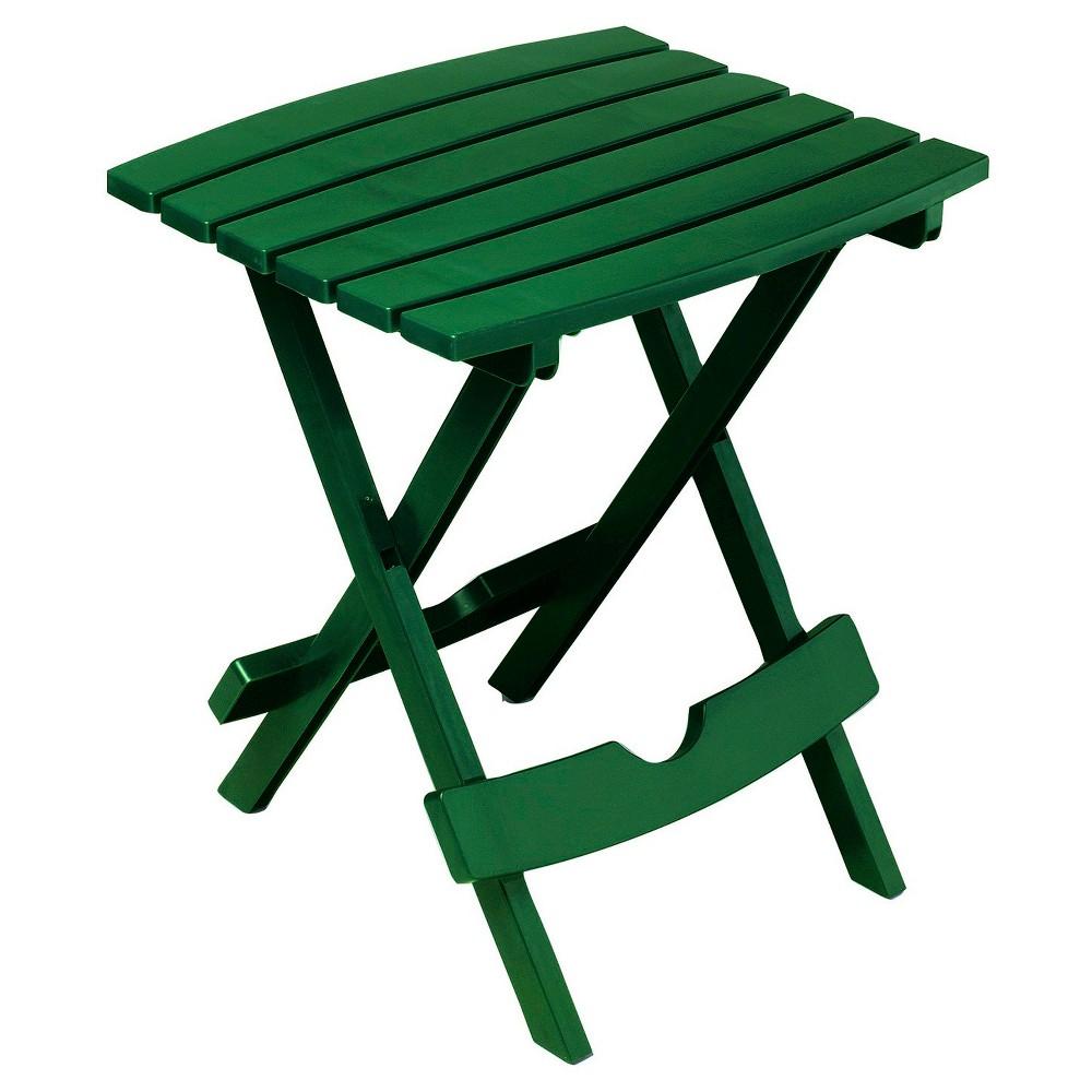 Image of Adams Quick Fold Side Table - Hunter Green, Dark Green