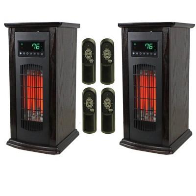 LifeSmart LifePro 3 Element Electric Infrared Quartz Tower Space Heater (Pair)