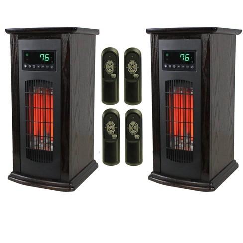Lifesmart Lifepro 3 Element Electric Infrared Quartz Tower Space Heater Pair Target