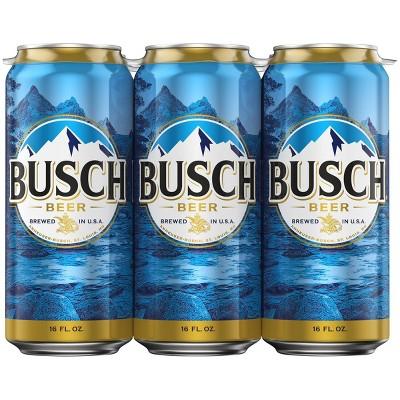 Busch Beer - 6pk/16 fl oz Cans