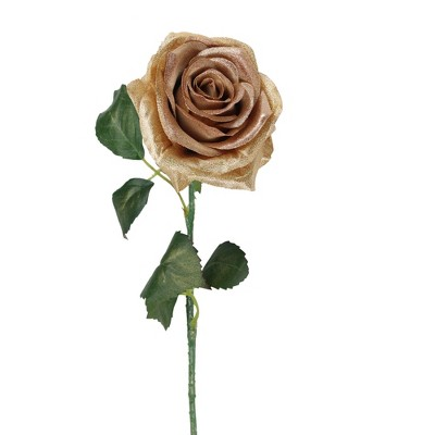 """Allstate Floral 21.5"""" Brown and Green Artificial Silk Rose Craft Pick"""
