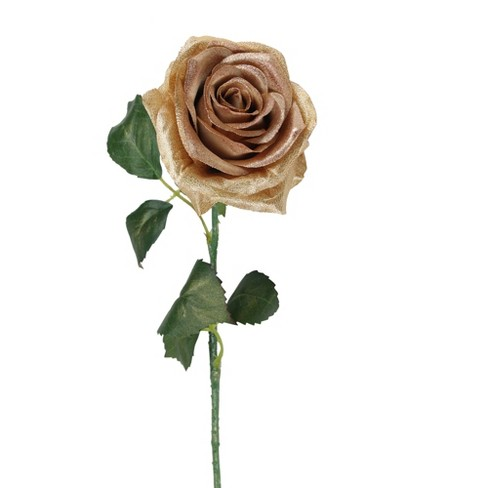 """Allstate Floral 21.5"""" Brown and Green Artificial Silk Rose Craft Pick - image 1 of 2"""