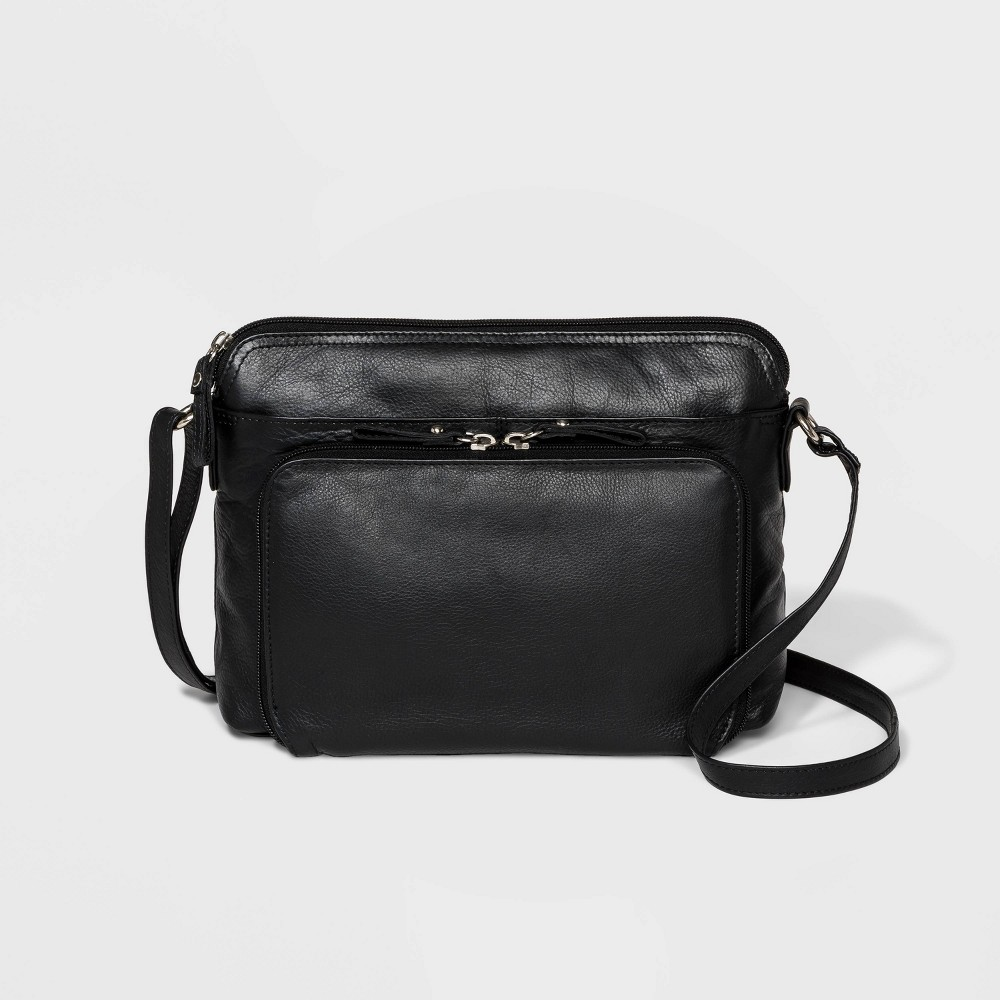 Image of Great American Leather Crossbody Bag - Black, Women's, Size: Small