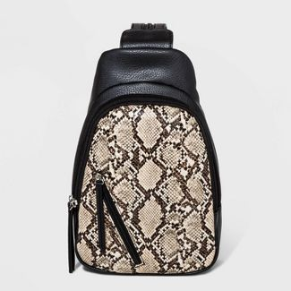 Convertible Snake Print Sling Pack - Wild Fable™