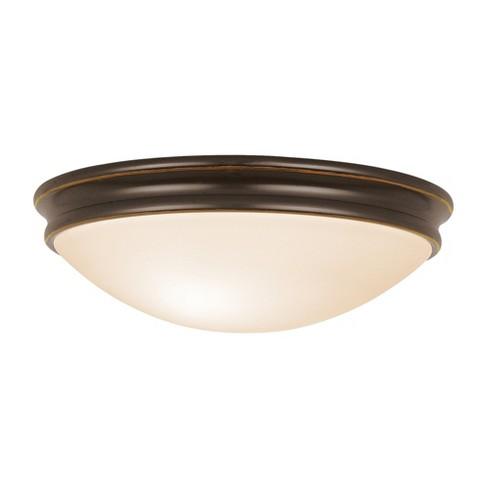 Access Lighting 13 Atom 2 Light Flush Mount Oil Rubbed Bronze Finish Opal Gl Shade Ceiling Lights Gold