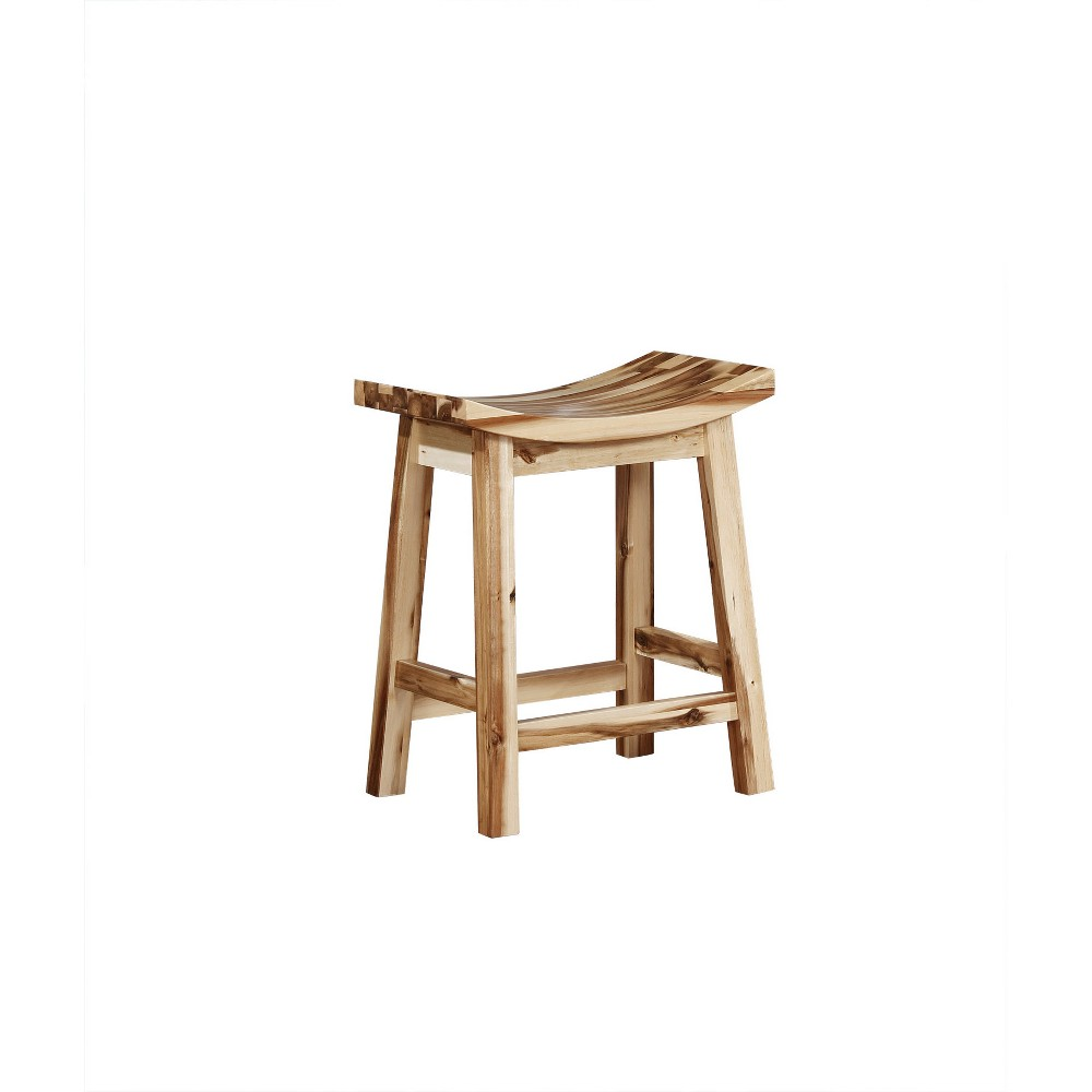 """Image of """"24"""""""" Boston Counterstool Light Natural - Powell Company, White"""""""