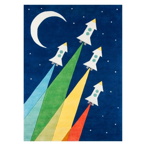 Lil Mo Whimsy Rocket Spaceship Tufted Accent Rug Momeni Target