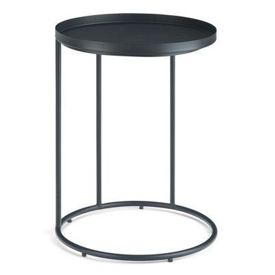 "18"" Lipton Metal Side Table Black - WyndenHall"