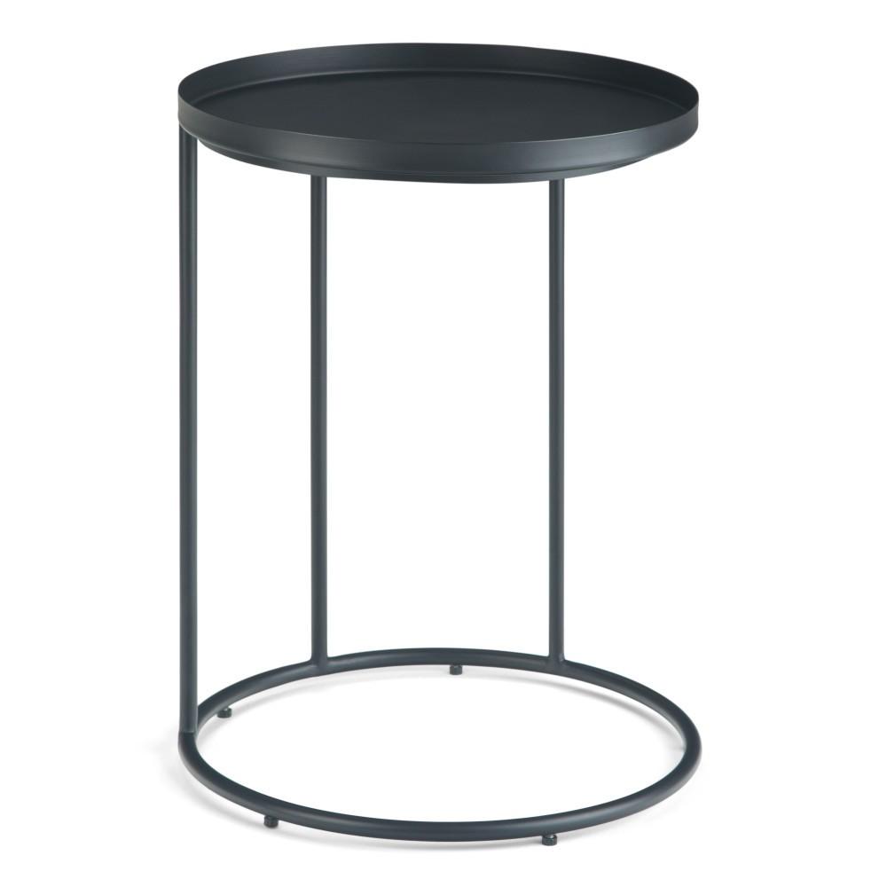 18 34 Lipton Metal Side Table Black Wyndenhall