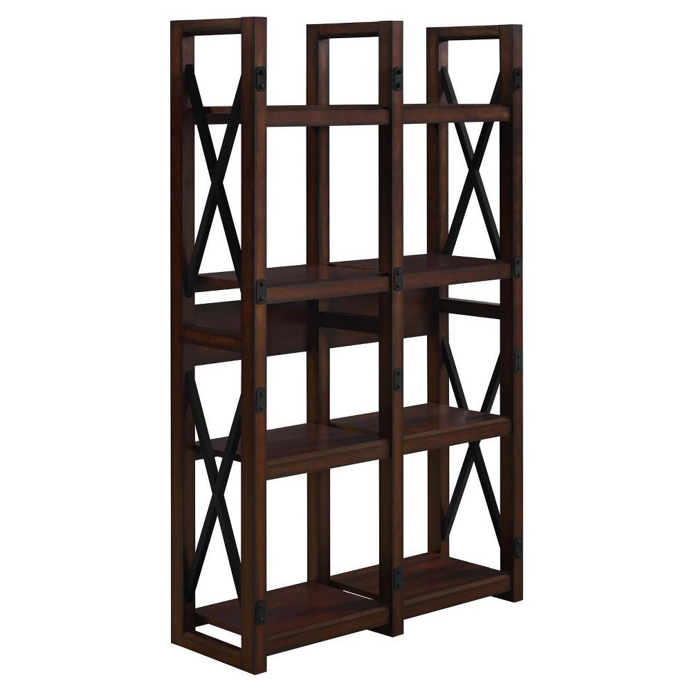 60 Hathaway Wood Veneer Bookcase/Room Divider - Espresso - Room & Joy, Brown