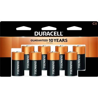 Duracell Coppertop C Batteries - 8 Pack Alkaline Battery