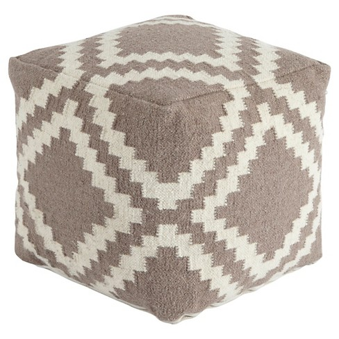 Geometric Pouf Gray - Signature Design by Ashley - image 1 of 2