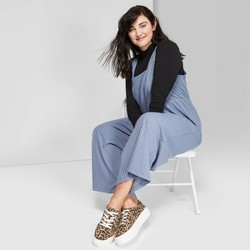 Women's Plus Size Sleeveless Square Neck Rib Knit Jumpsuit - Wild Fable™