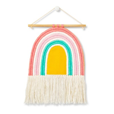 "Rainbow Woven Wall Hanging - 10""x12"" - Cloud Island™"