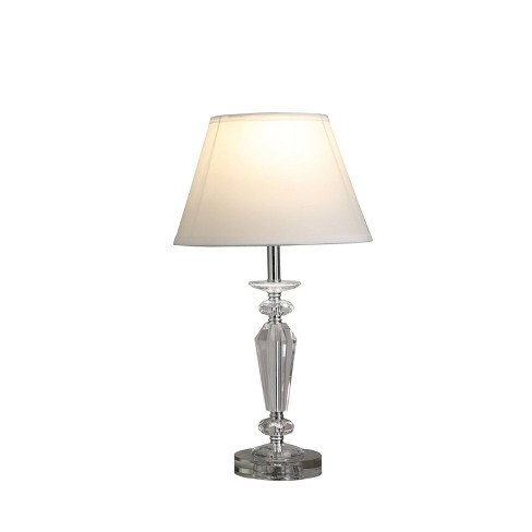 Ashford Crystal Table Lamp Silver Only Ore International