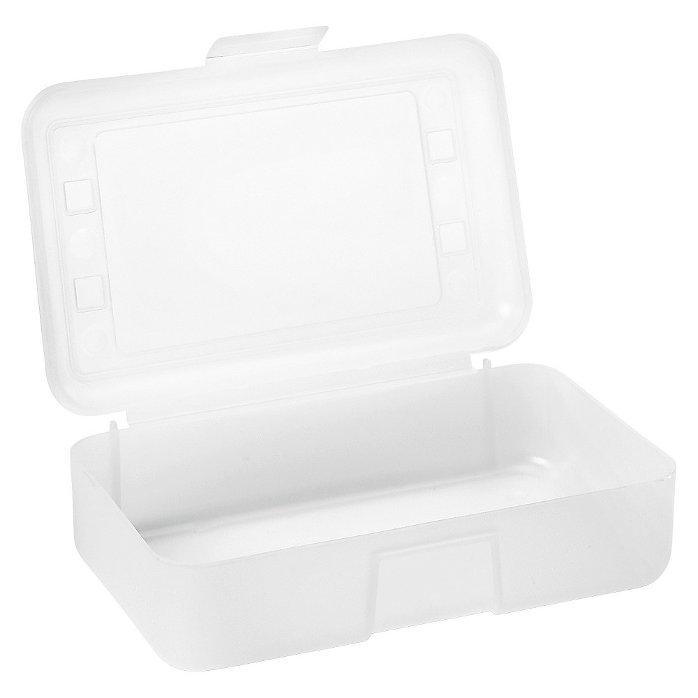 Advantus Pencil Box - Clear, White