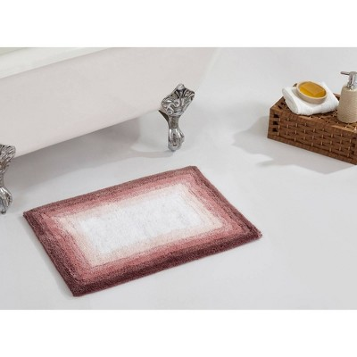 """17""""x24"""" Torrent Collection Ombre Pattern Bath Rug Pink - Better Trends"""