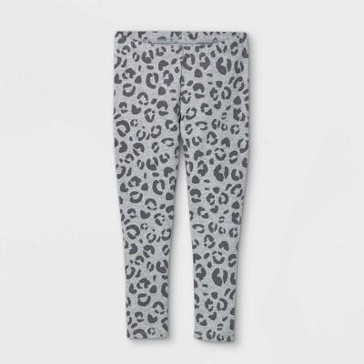 Toddler Girls' Leopard Print Leggings - Cat & Jack™ Heather Gray