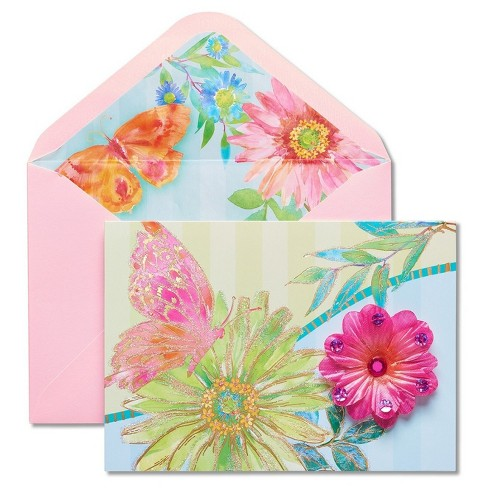 Papyrus Fresh Florals Mother's Day Card with Glitter - image 1 of 4