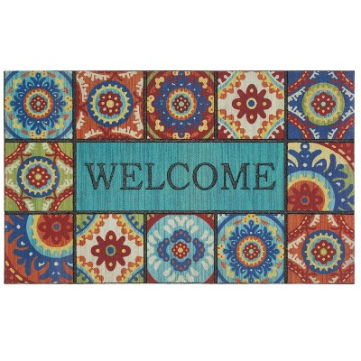 "1'6""x2'6"" Doorscapes Mat Welcome Exotic Tiles - Mohawk"