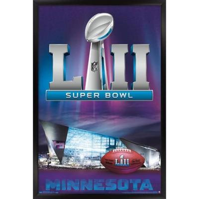 """Trends International NFL Super Bowl LII - Celebration Framed Wall Poster Prints Black Framed Version 14.725"""" x 22.375"""""""