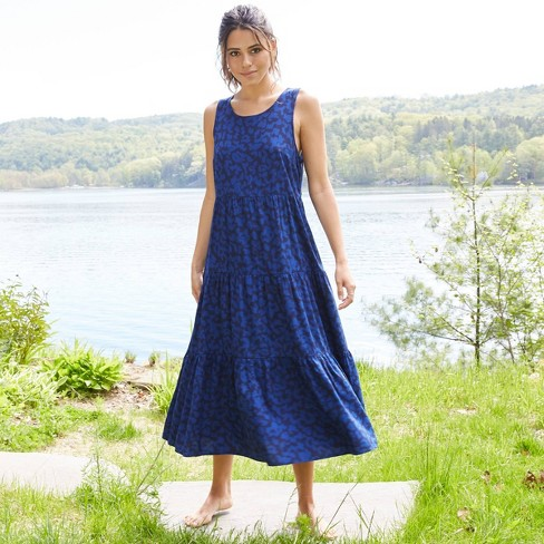 Women's Sleeveless Tiered Dress - A New Day™ - image 1 of 4