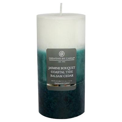 Layered Pillar Candle Jasmine/Coastal Tide/Balsam Cedar 6 x3  - Chesapeake Bay Candle®