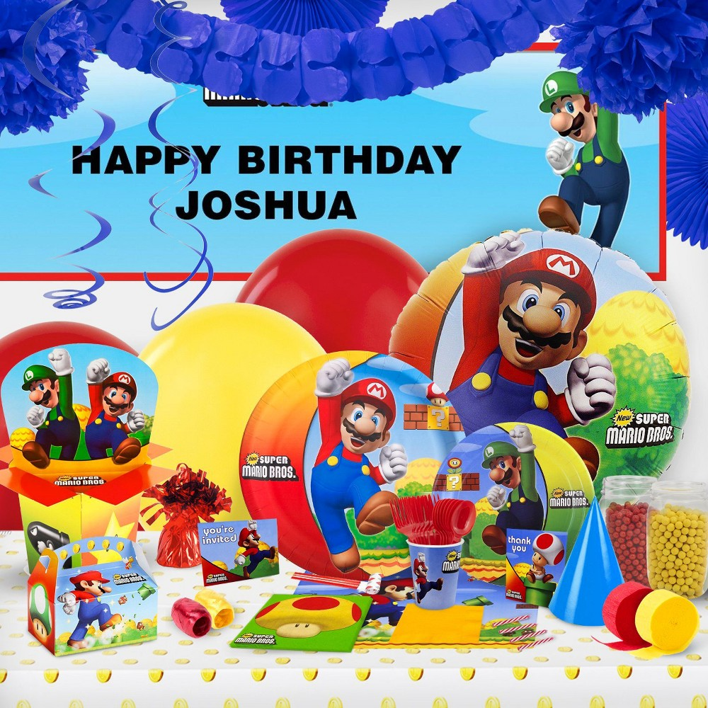 Super Mario Brothers Party Decoration Kit, Multi-Colored
