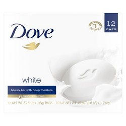 Dove White Moisturizing Beauty Bar Soap - 3.75oz/12ct