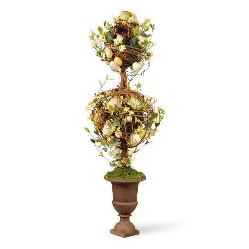 "Two Ball Easter Artificial Topiary Green 33"" - National Tree Company - image 1 of 4"