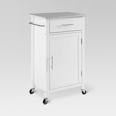 Savannah Stainless Steel Top Compact Kitchen Island Cart - Crosley