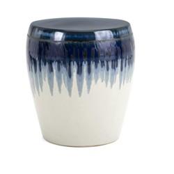 "IMAX Home 13724 Hamako 14-1/4"" Wide Ceramic Outdoor Garden Stool"