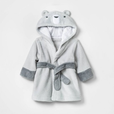 Baby Bear Plush Bath Robe - Cloud Island™ White 0-9M