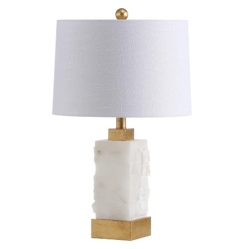 """23"""" Eloise Alabaster/Metal LED Table Lamp White (Includes Energy Efficient Light Bulb) - JONATHAN Y - image 1 of 4"""