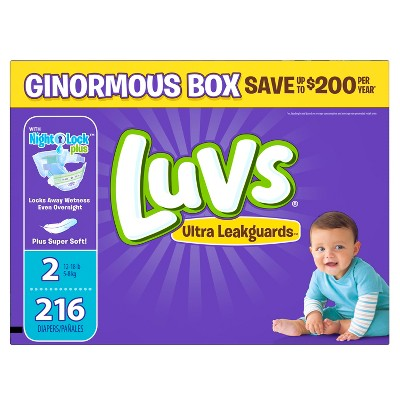 Luvs Diapers, Ginormous Pack - Size 2 (216 ct)