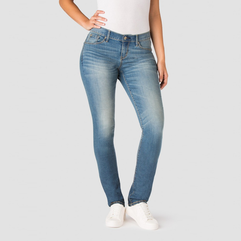 Denizen from Levi's Women's Curvy Slim Jeans - Blue Ice 12 Short