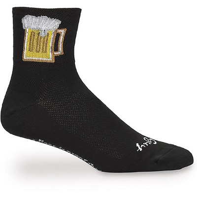 NEW SockGuy Bevy Sock Black Large Extra-Large Double Stitched Heel