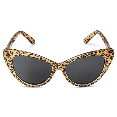 Girls' Cheetah Cateye Sunglasses - Brown - image 1 of 1