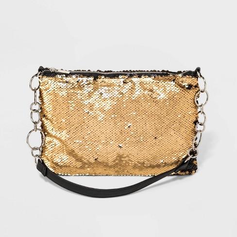 Sequin Shoulder Handbag - Wild Fable™ Black/Gold - image 1 of 4